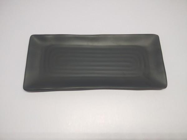 Sushiplatte 30,3 x 12,8x1,8 cm- schwarzmatt