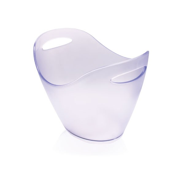 Champagne Bucket frosted klar, PS 35x27x25,5 cm, 6 ltr.