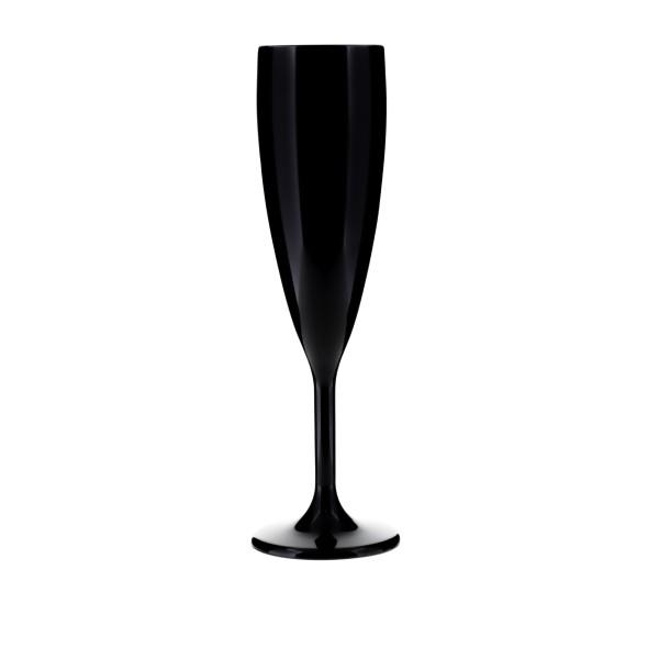 Champagnerglas schwarzem PC, 140 ml.