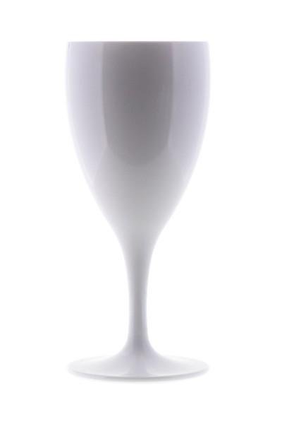 Weinglas weiß PC, 240 ml