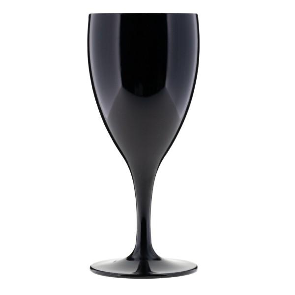 Weinglas schwarzem PC, 240 ml.