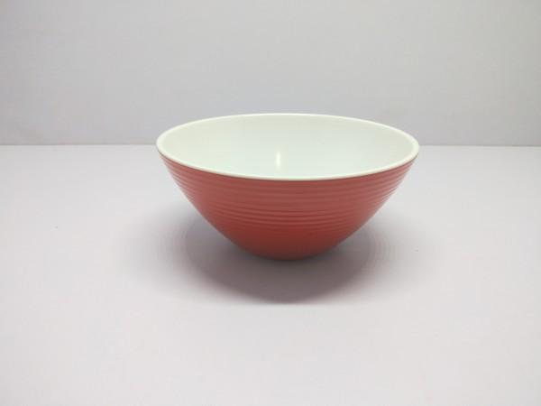 Schüssel 16 cm/ 500 ml , rot-weiß