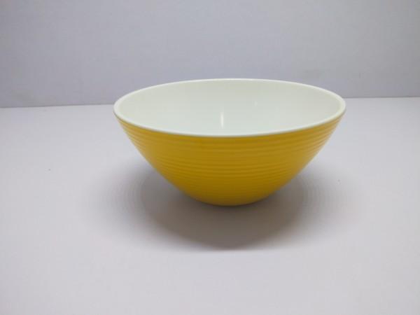 Schüssel 16 cm/ 500 ml , gelb-weiß