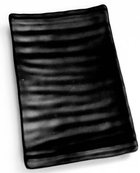 Platte rechteckig schwarz/matt